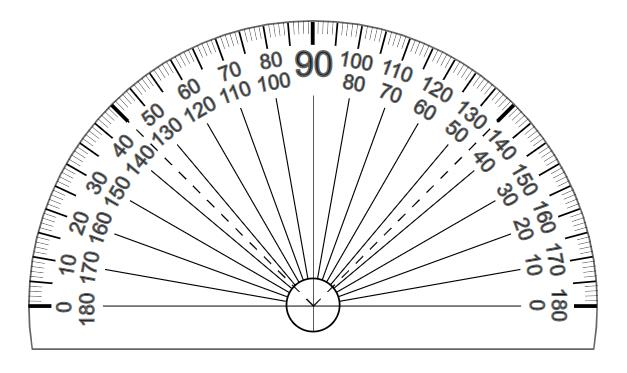 Print this free printable protractor in PDF so you don't