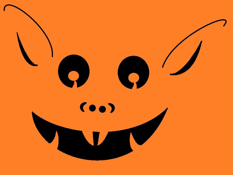Simple halloween pumpkin template
