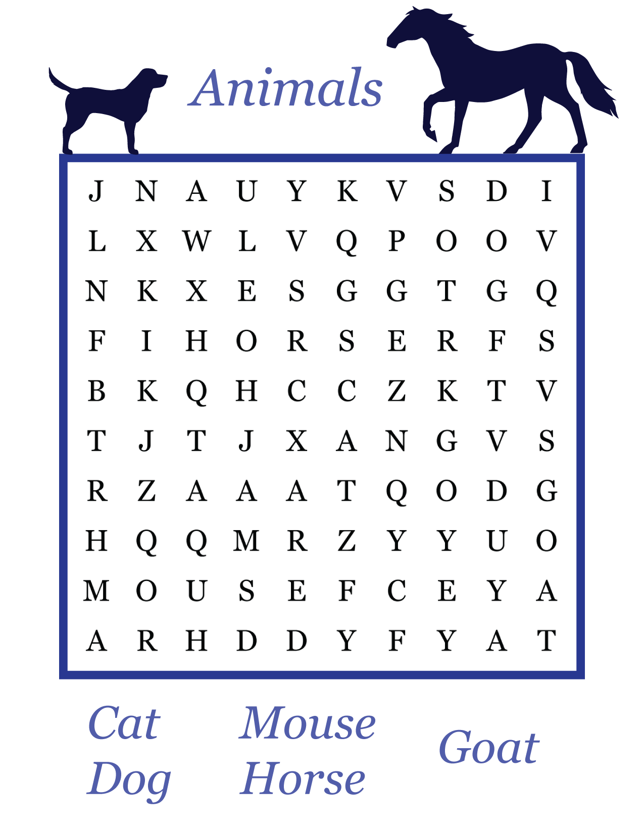 Printable easy word search games for kids - Printerfriend.ly