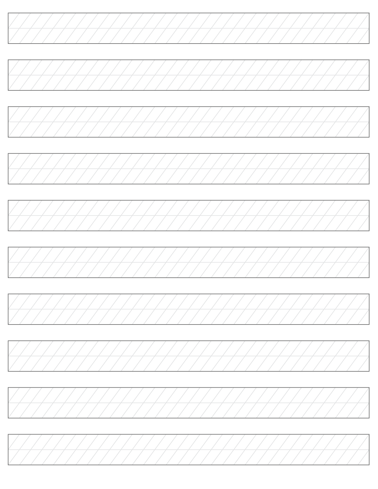 free blank calligraphy paper and lined