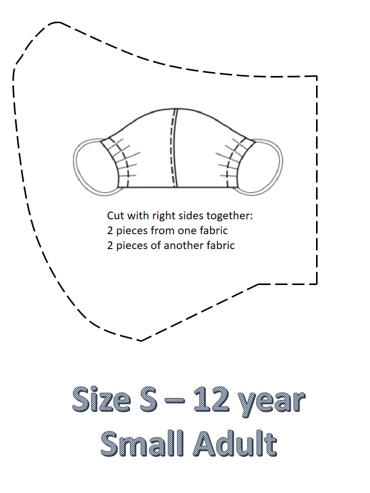size s facemask pattern for teenagers
