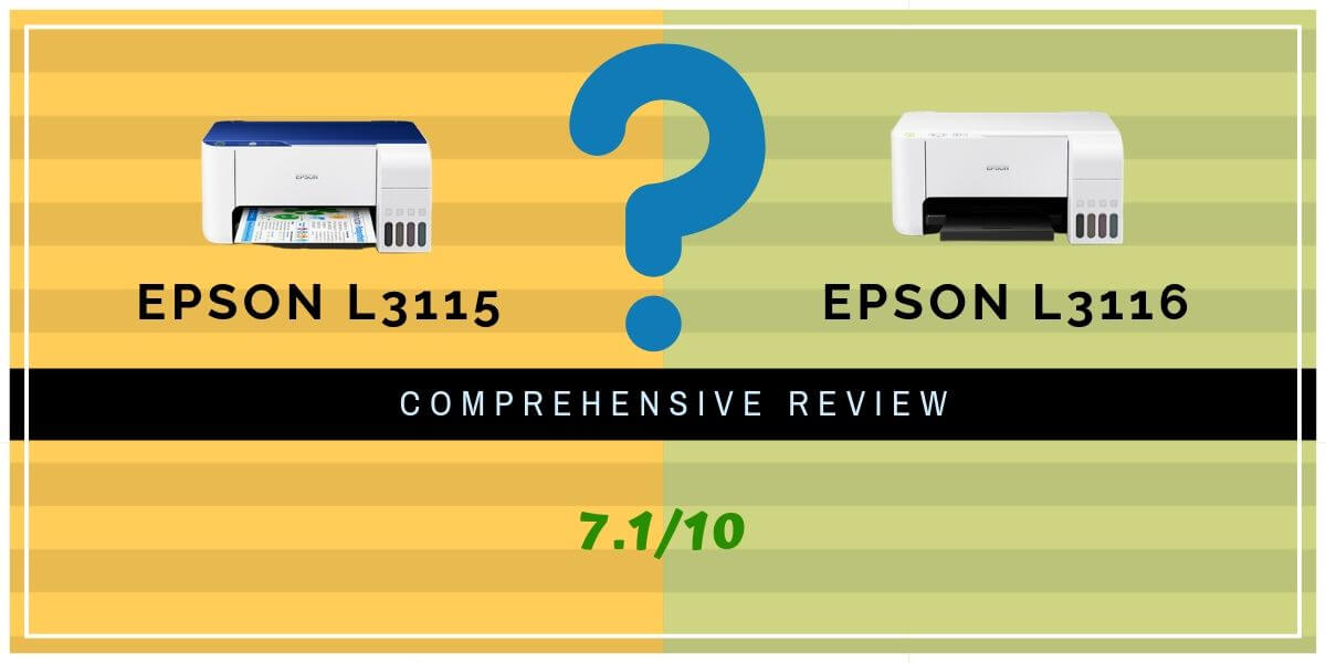 Epson L3115 And L3116 Printer Review – 2020