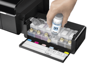 EPSON L805 Ink refilling