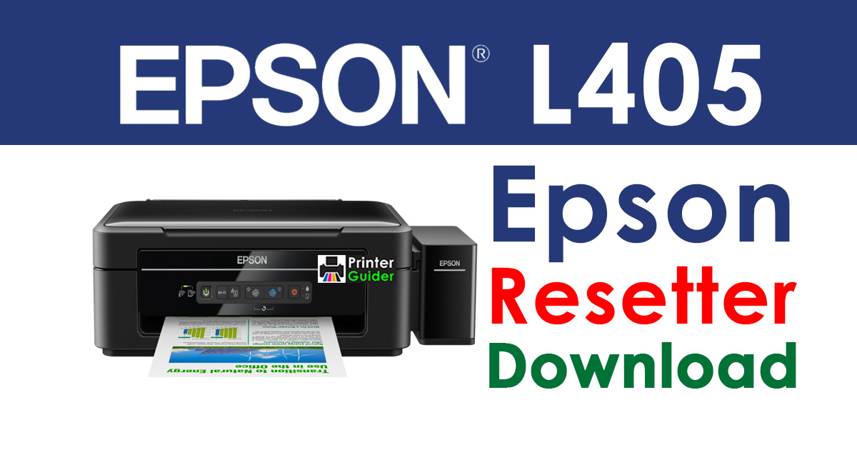 Epson L405 Resetter Adjustment Program Free Download