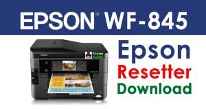 Epson WorkForce 845 Resetter Adjustment Program Download