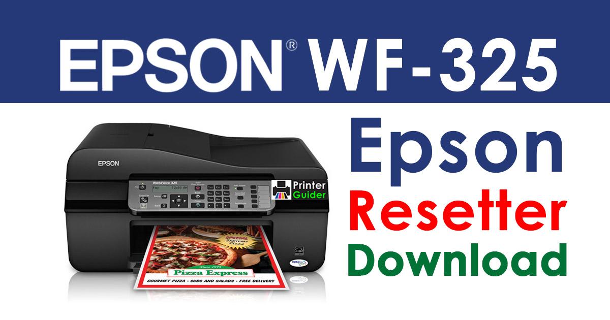 Epson WorkForce WF-325 Resetter Adjustment Program Download