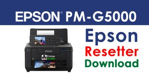 Epson PictureMate PM-G5000 Resetter Adjustment Program