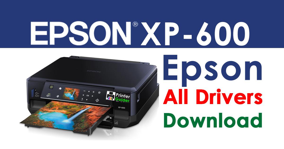 Epson XP-600 Printer driver Free download