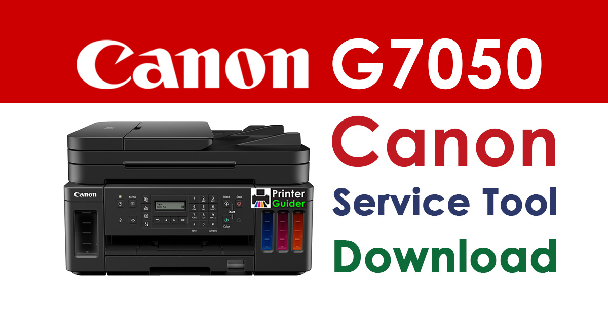 Canon Pixma G7050 Resetter Service Tool Download