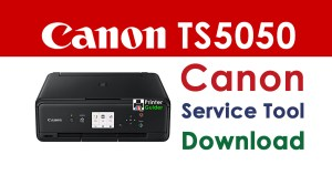 Canon Pixma TS5050 Resetter Service Tool Download