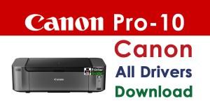 Canon Pixma Pro-10 Printer Driver Download