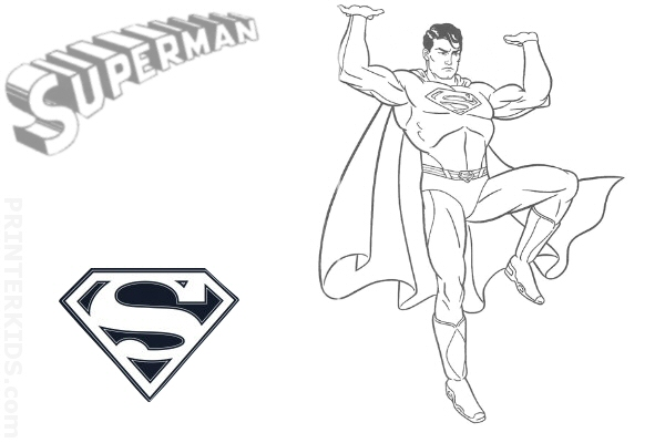 super man letter n Colouring Pages