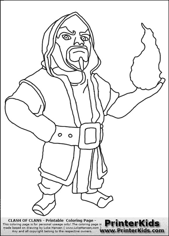 Free Printable Clash Of Clans Golem Coloring Pages Auto