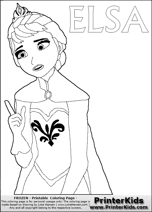 Free coloring pages of frozen let it go