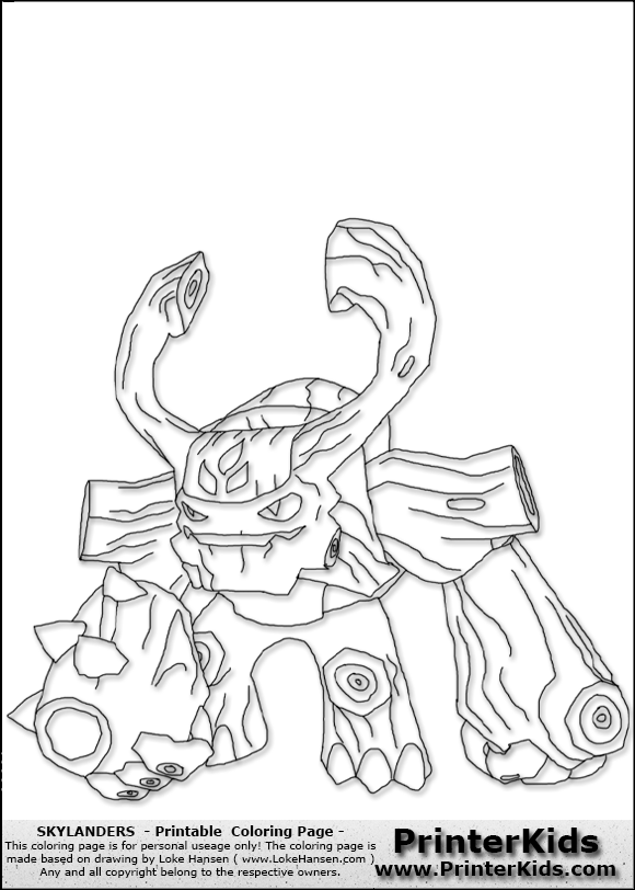 tre rex skylanders Colouring Pages