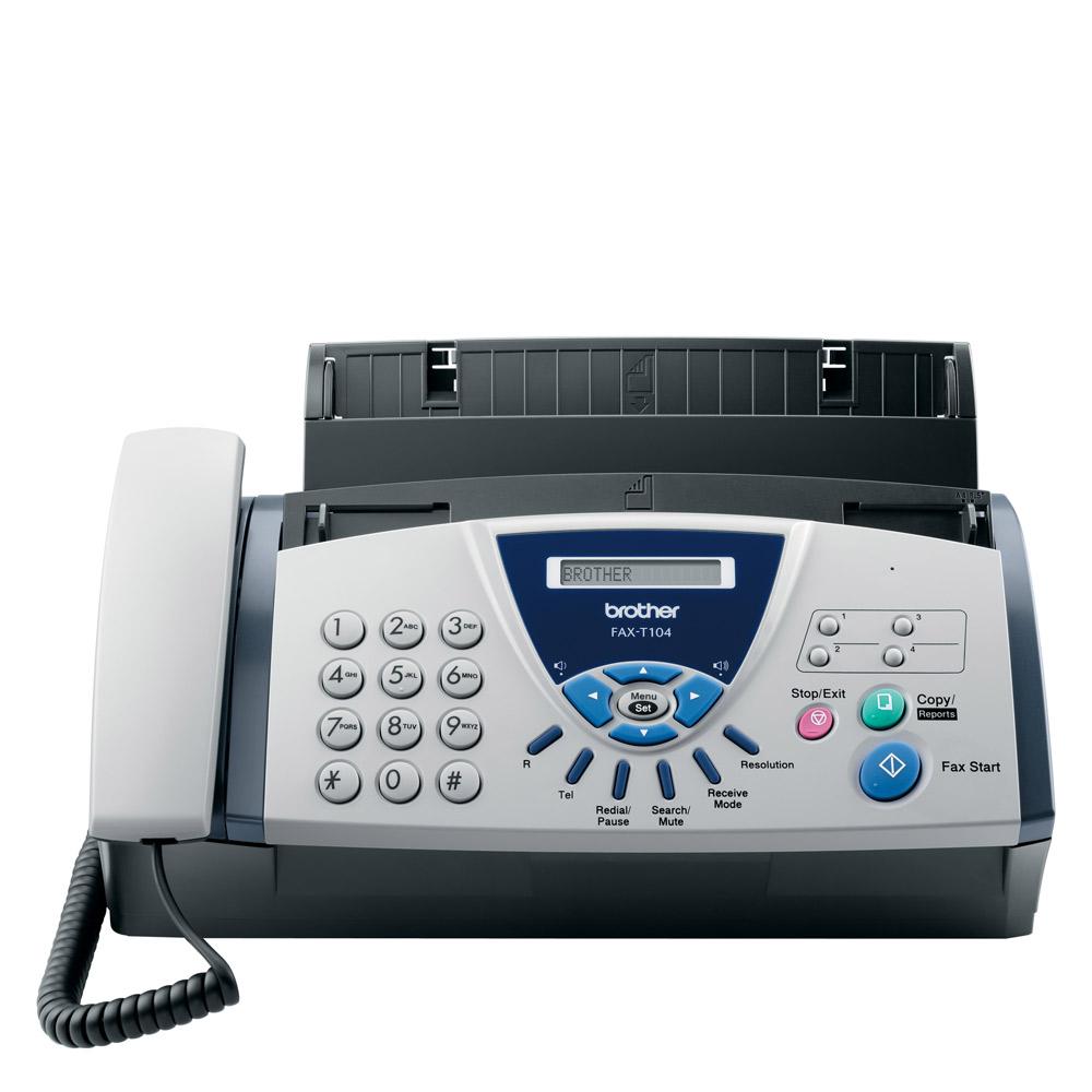Brother FAX-T104 A4 mono Fax Machine - FAXT104U1