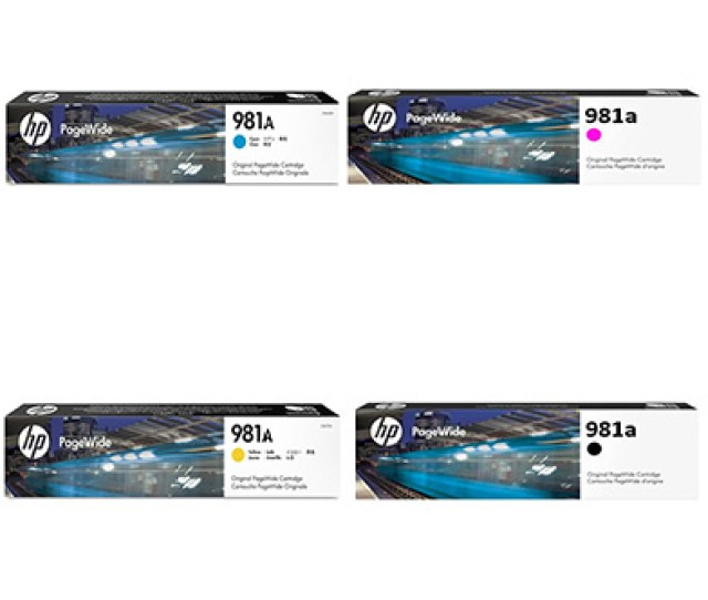Hp 981a Standard Ink Value Pack Cmyk 6000 Pages