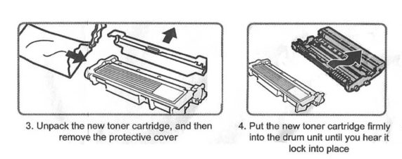 Replace / Install Brother TN-660 / TN-630 toner cartridge