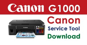 Canon Pixma G1000 Service Tool Resetter Download