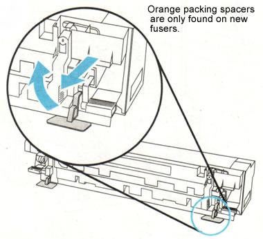 HP LaserJet 8000 fuser installation instructions