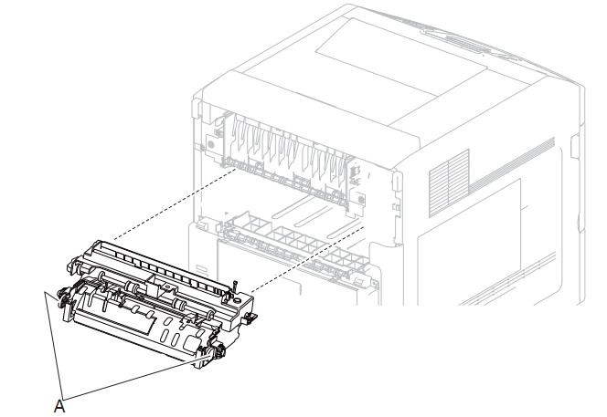 Installing the fuser Lexmark T650 T652 T654