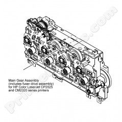 Main drive assembly w. fuser drive assembly HP Color