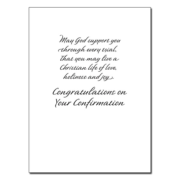 Anointed by the Holy Spirit: Confirmation Card