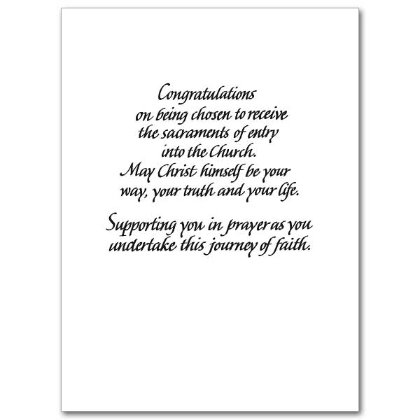 As You Are Called To... (Election): RCIA Congratulations Card