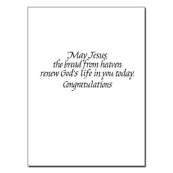 On Your First Holy Communion: First Communion Card