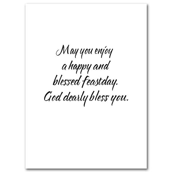 On Your Feast Day: Feast Day Card