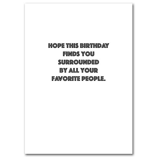 May His Light Shine in the Candles: Birthday Card