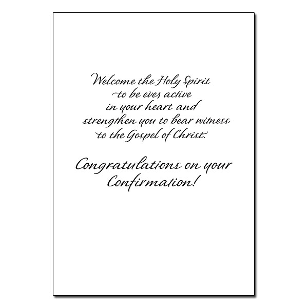 The Fruit of the Spirit Is Love: Confirmation Card