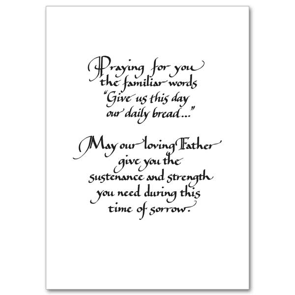 May You Find Daily Comfort: Sympathy Card