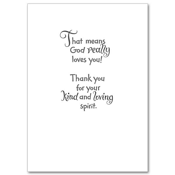 God Loves A Cheerful Giver: Thank You Card