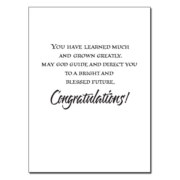 Blessings on Your Graduation Day: Graduation Card