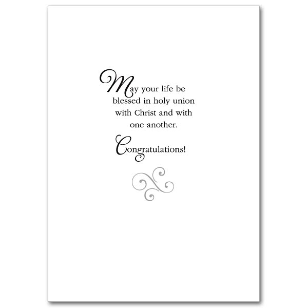 A Prayer for Your Wedding Day: Wedding Congratulations Card