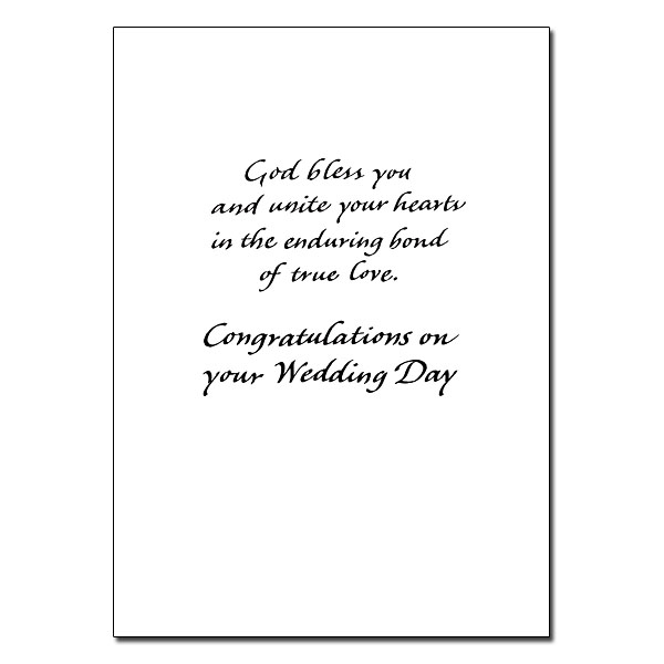 As You Become One in Christ: Wedding Congratulations Card