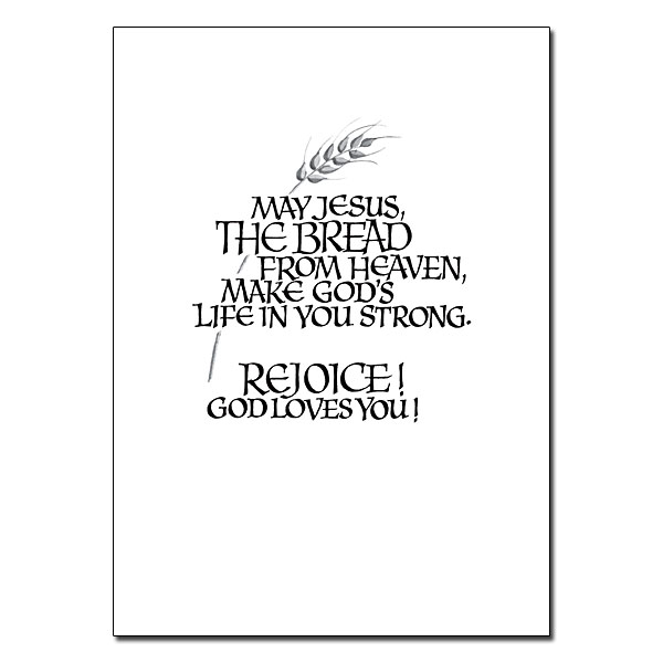 I Am the Living Bread: First Communion Card