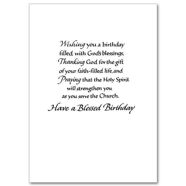 Blessings for a Special Priest: Birthday Card for Priest