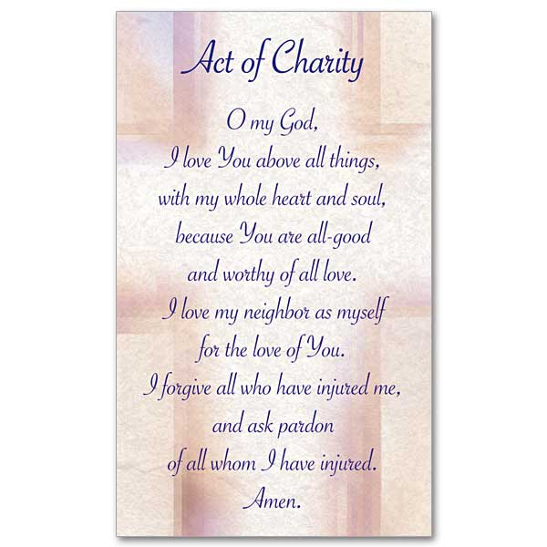 Act of Charity: Prayer Card