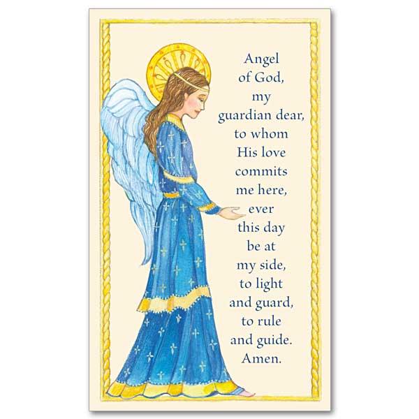 Guardian Angel Prayer Prayer Card