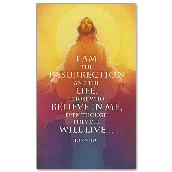 I Am The Resurrection And The Life Easter Prayer Card