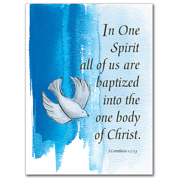 In One Spirit Child Baptism Card