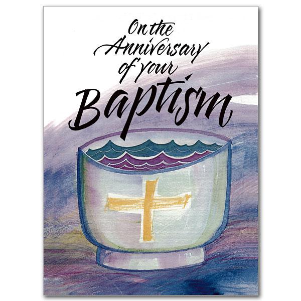 Baptismal Anniversary Baptism Anniversary Card