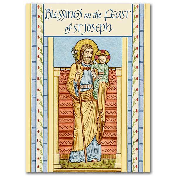 Blessings On The Feast Of St Joseph St Josephs Day Card
