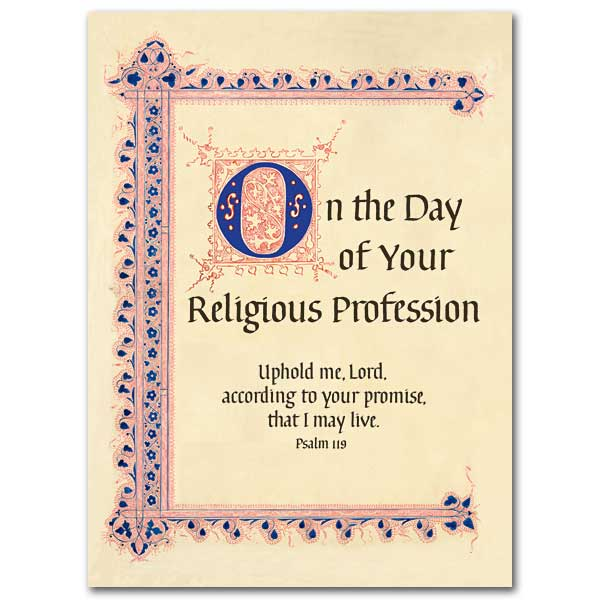 On The Day Of Your Religious Profession Religious