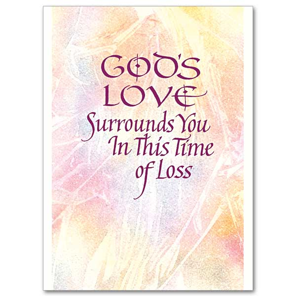 Gods Love Surrounds You Sympathy Card
