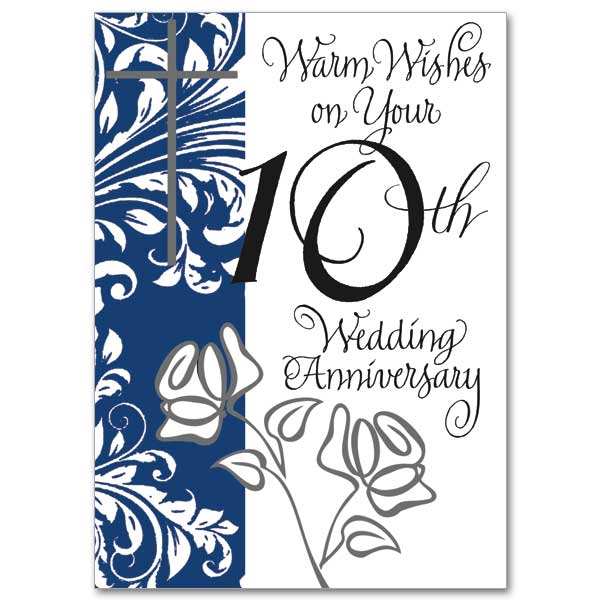 Warm Wishes on Your 10th Wedding Anniversary 10th Wedding Anniversary Card