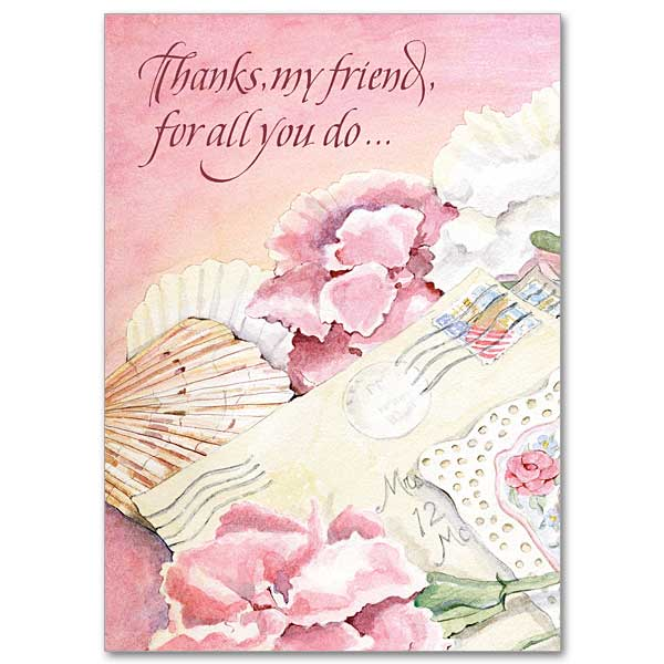 Thanks My Friend For All You Do Thank You Friendship Card