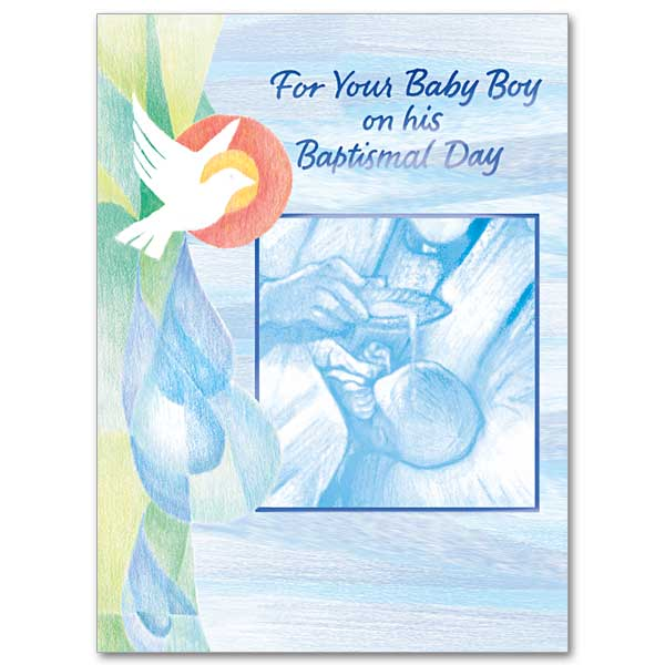For Your Baby Boy On His Baptismal Day Baptism Card